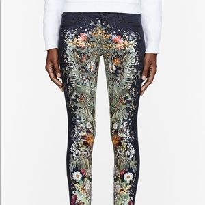 Mother the looker wild flower jeans